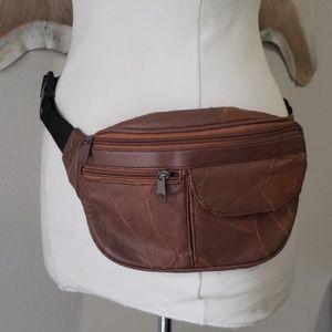 Vintage leather fanny pack